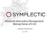 Research information management: making sense of it all