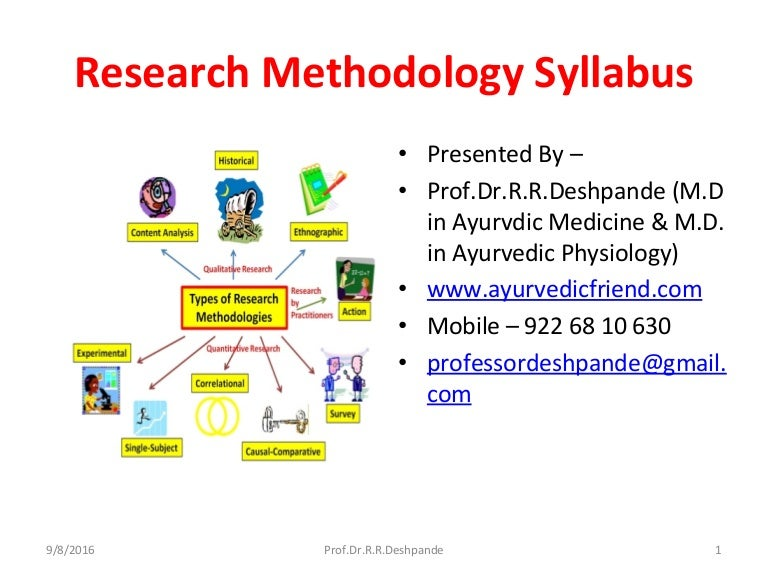 Research methodology syllabus