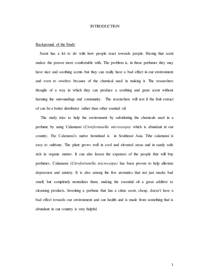 Example Of A Background Research Paper