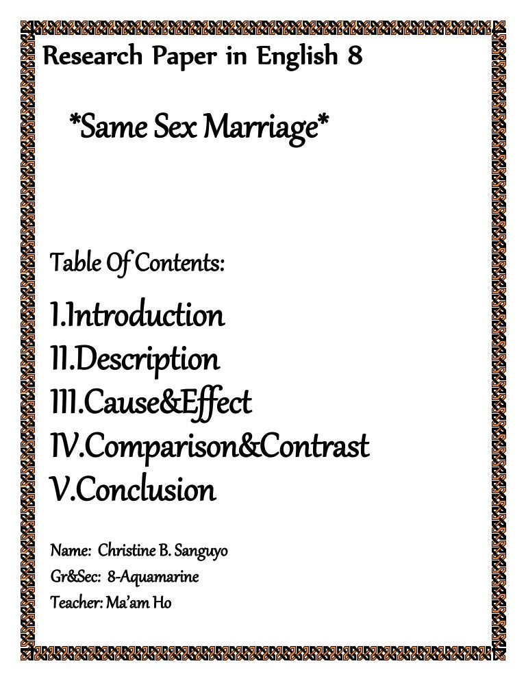 same marriage essay topics