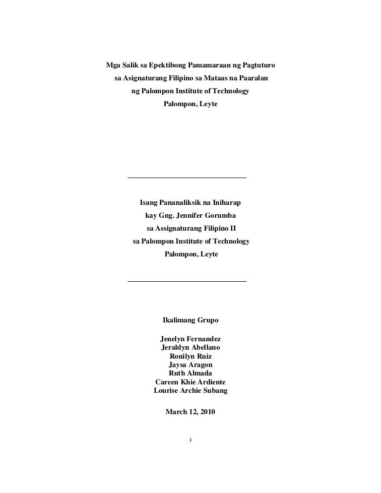 sample filipino thesis paper