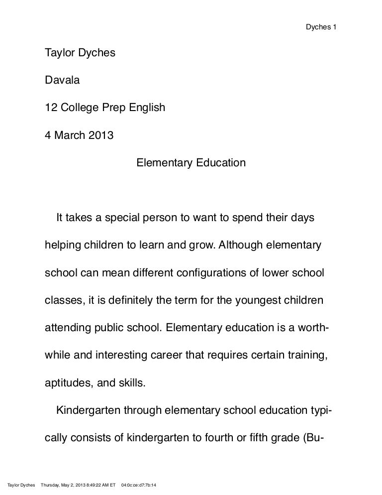 elementary education research paper topics
