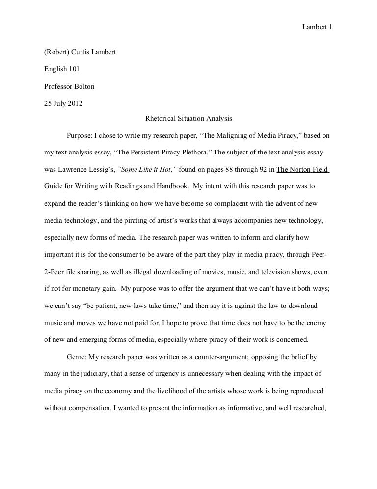 Samples Of Essay Writing In English  Reflective Essay On English Class also High School Argumentative Essay Topics Research Paper Rhetorical Situation  July  Examples Of Thesis Statements For Essays