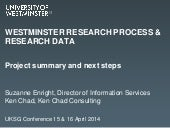 Research  process and research data management