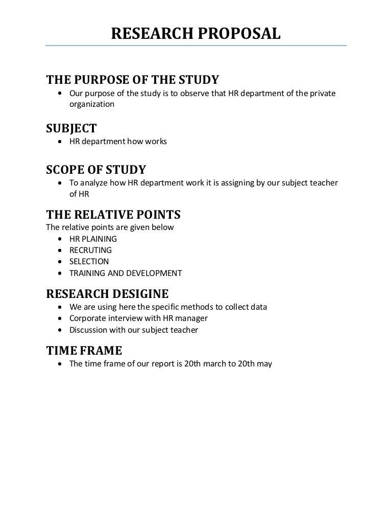 Research proposal – Research Proposal