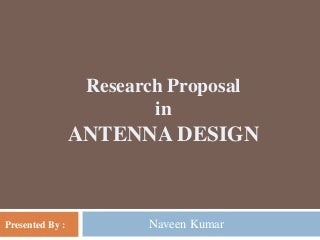Ph.D Research proposal
