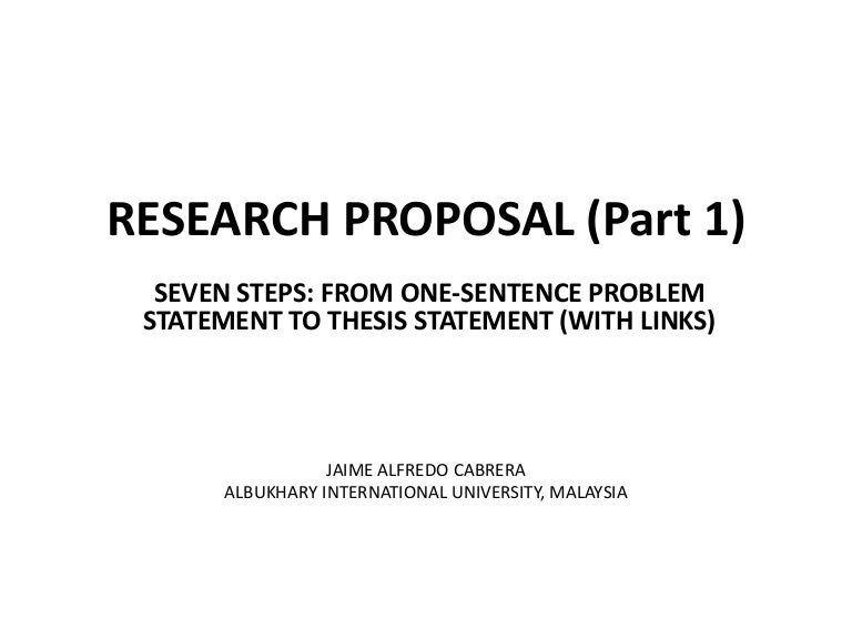 masters thesis problem statement example