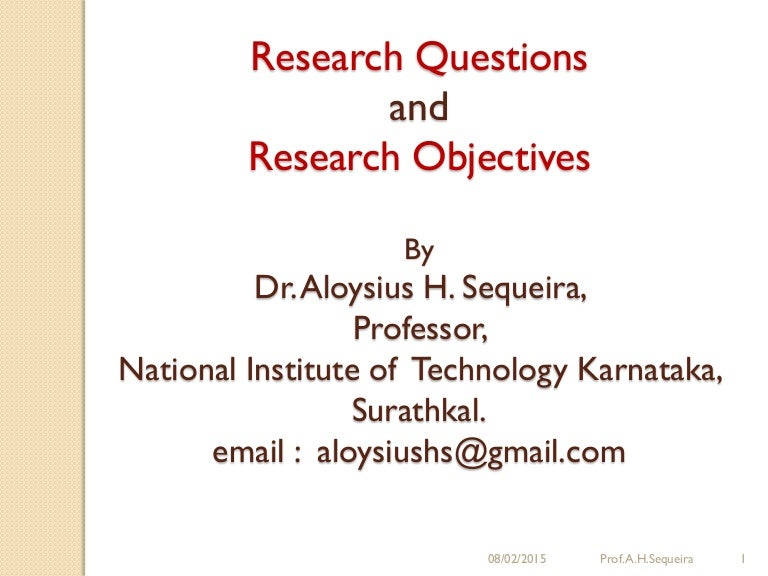 objectives in research paper