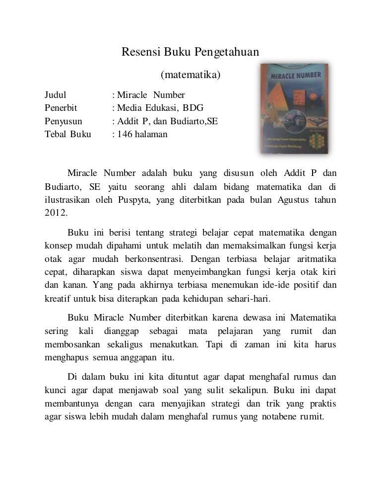 Doc Contoh Resensi Buku Pengantar Filsafat Pendidikan Gustiandra Lesmana Academia Edu