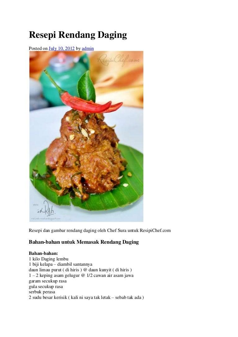 Resepi Rendang Daging Asam Gelugur 1 Kg Resepirendangdaging 121214092210 Phpapp01 Thumbnail 4cb1355476975
