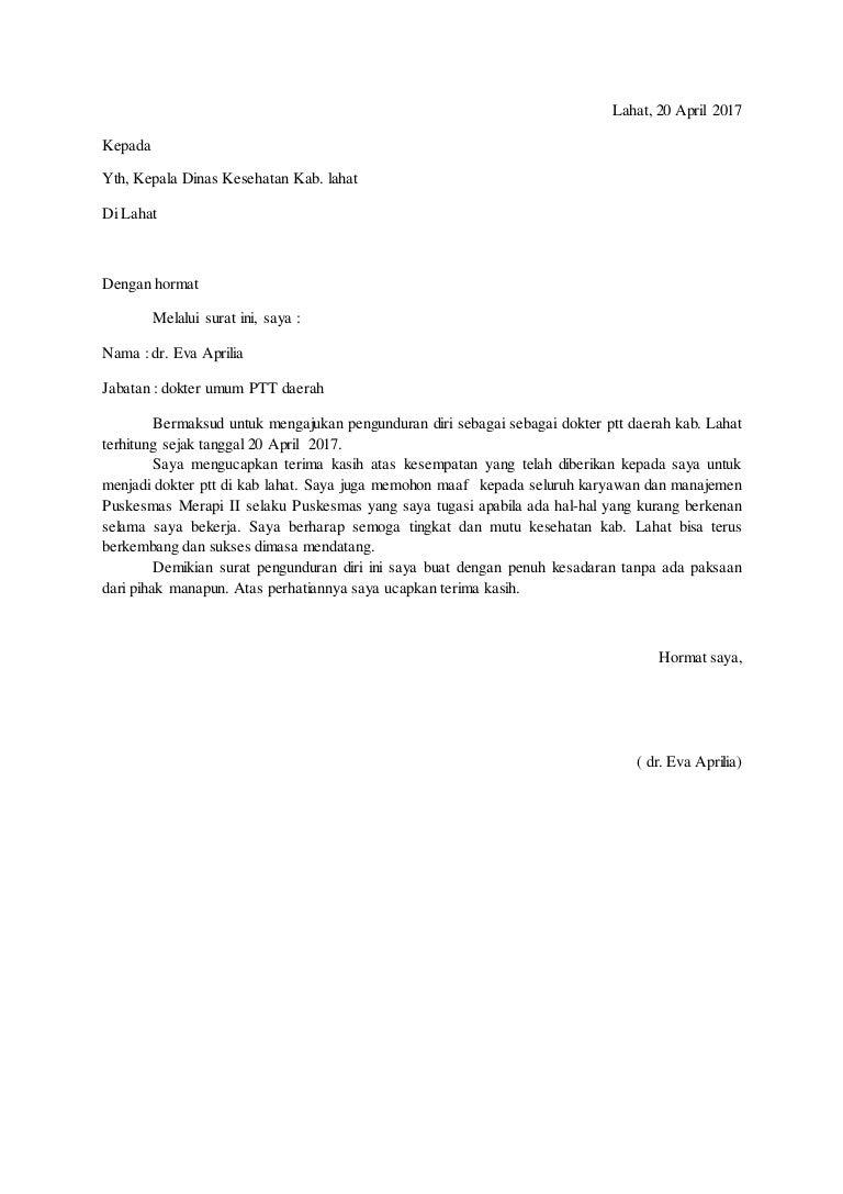 Contoh Surat Resign Umum Detil Gambar Online