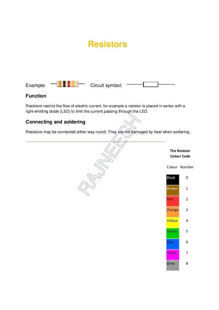 Resistors Capacitors Equivalent Resistance Circuit Examples