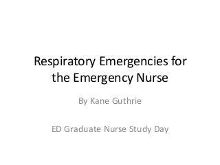 Basics of Respiratory Emergencies for ED Nurses!