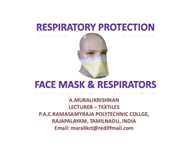 respiratory surgical mask