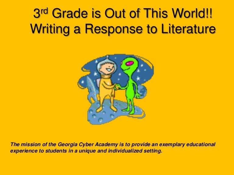 teaching response to literature 3rd grade - Response To Literature Essay Format