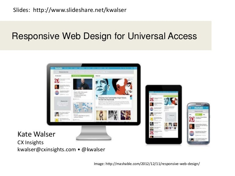 Responsive Web Design For Universal Access 2016