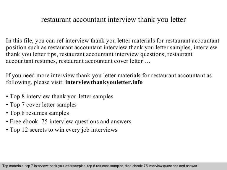 Restaurant Accountant