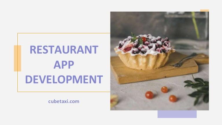 On-Demand Restaurant App Development Solution