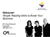 Business Education Series: People Reading Skills to Boost Your Business by ORTalent