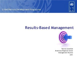 Results-Based Management in UNDP