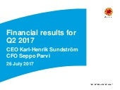 Financial results for Q2 2017