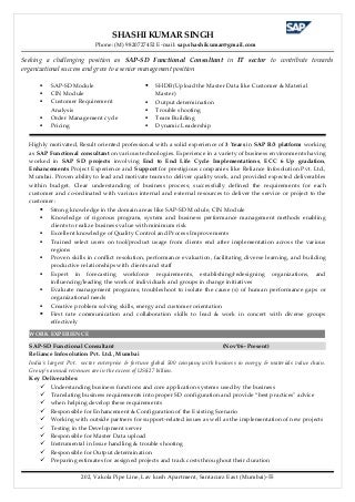 sap functional consultant resumes - People Soft Consultant Resume