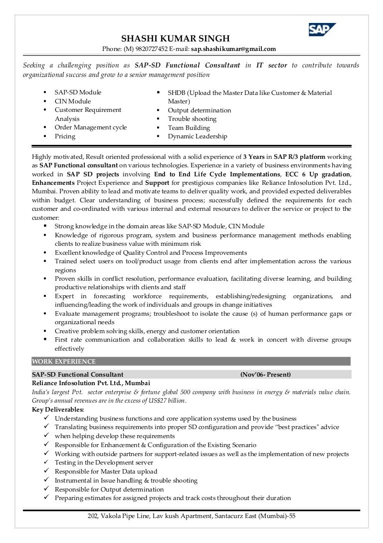 SAP-SD Functional consultant