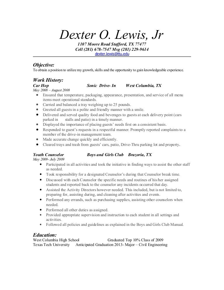 Resume – Guidance Counselor Resume