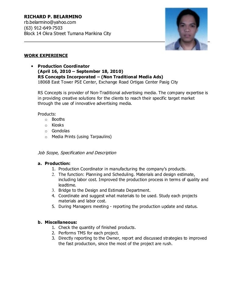 resume resume sample for ojt automotive resume - Auto Mechanic Resume Sample Philippines