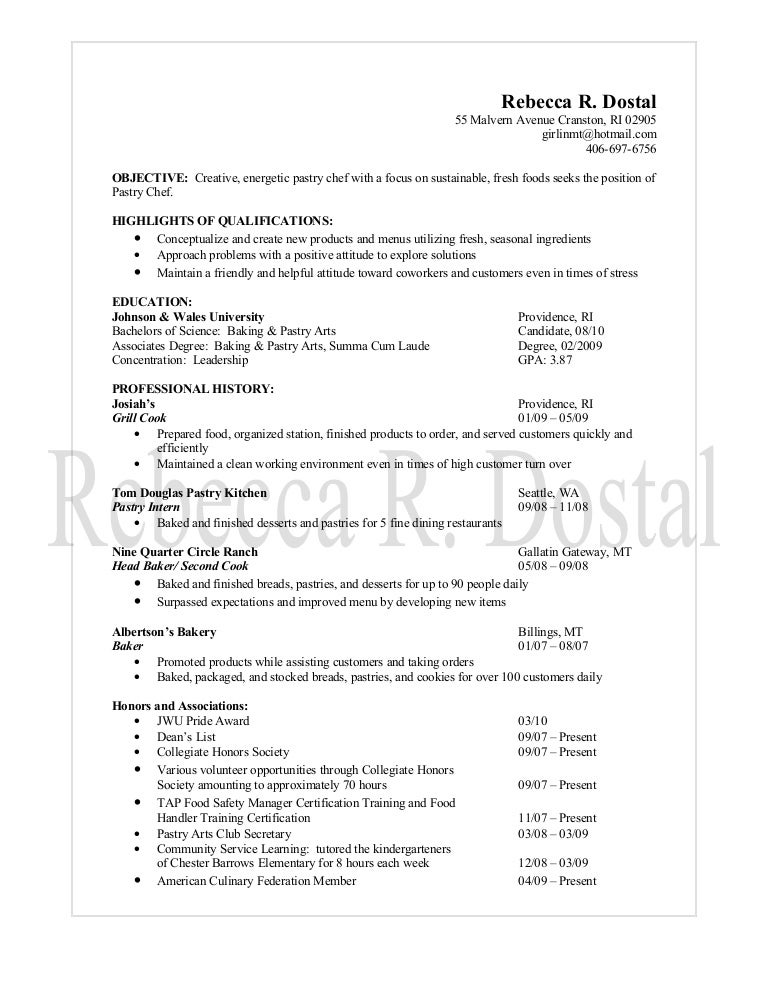 assistant pastry chef resume sample examples sous jobs free. resume