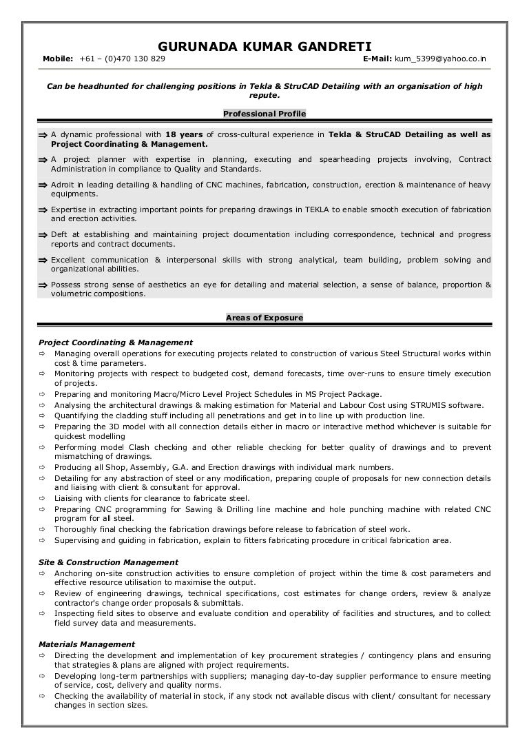 Resume Structure Doc  Structure Of A Resume