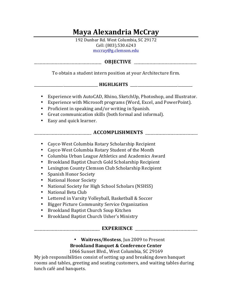 Resume With Internship Kenindlecomfortzone