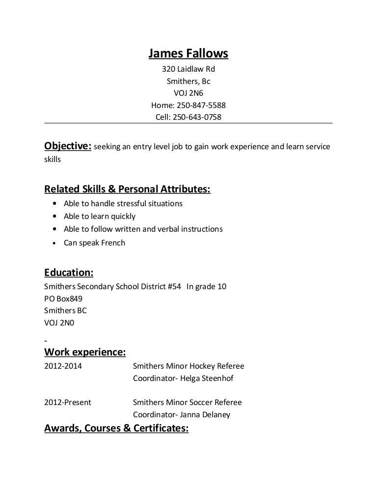 referee resume
