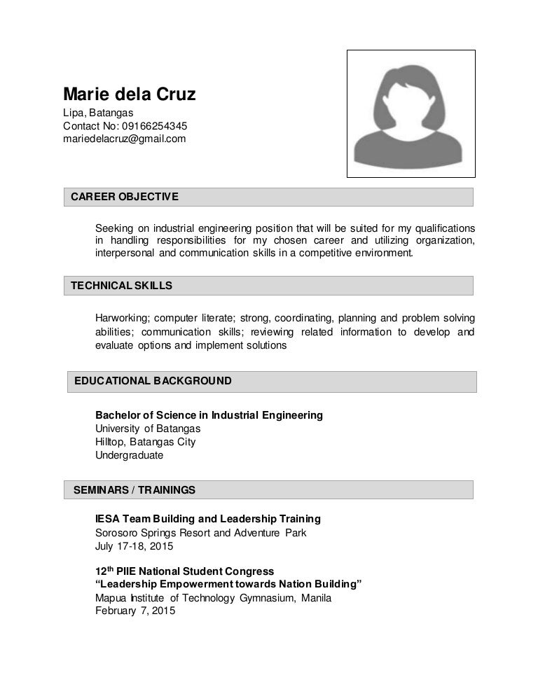 industrial engineering resume objective