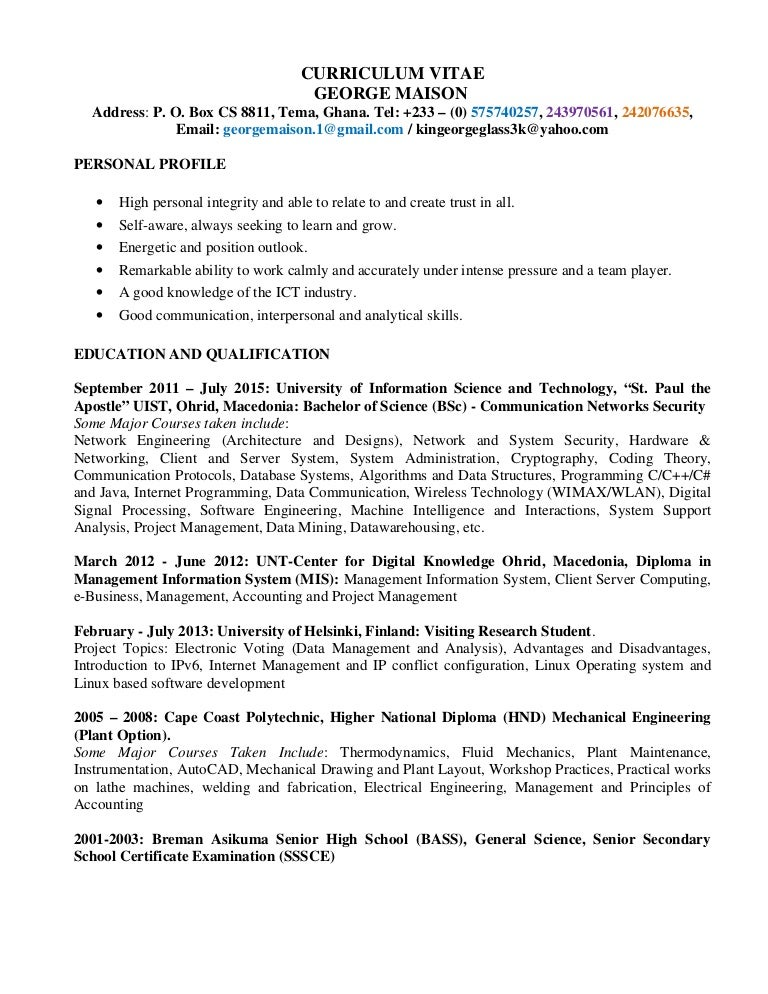 resume for it engineer