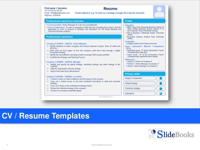 Sample Of Resume In Powerpoint Download Resume Powerpoint