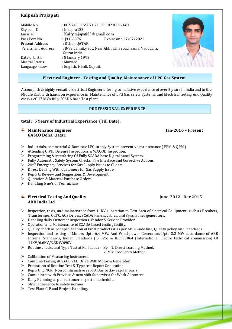 Sample Resume For Mechanical Engineer Fresher ] - sample ...