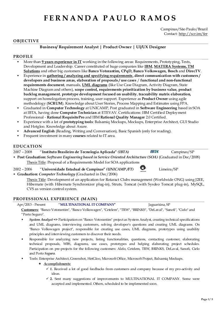 resume fernanda paulo ramos oct2013 scrum master resume