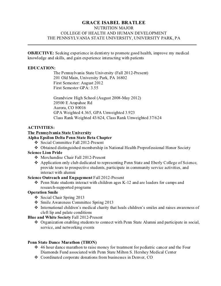 national honor society resumes - National Honor Society Resume