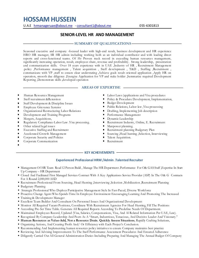 sample resume for hr and admin executive resume hr manage consultant hr admin manager consultant