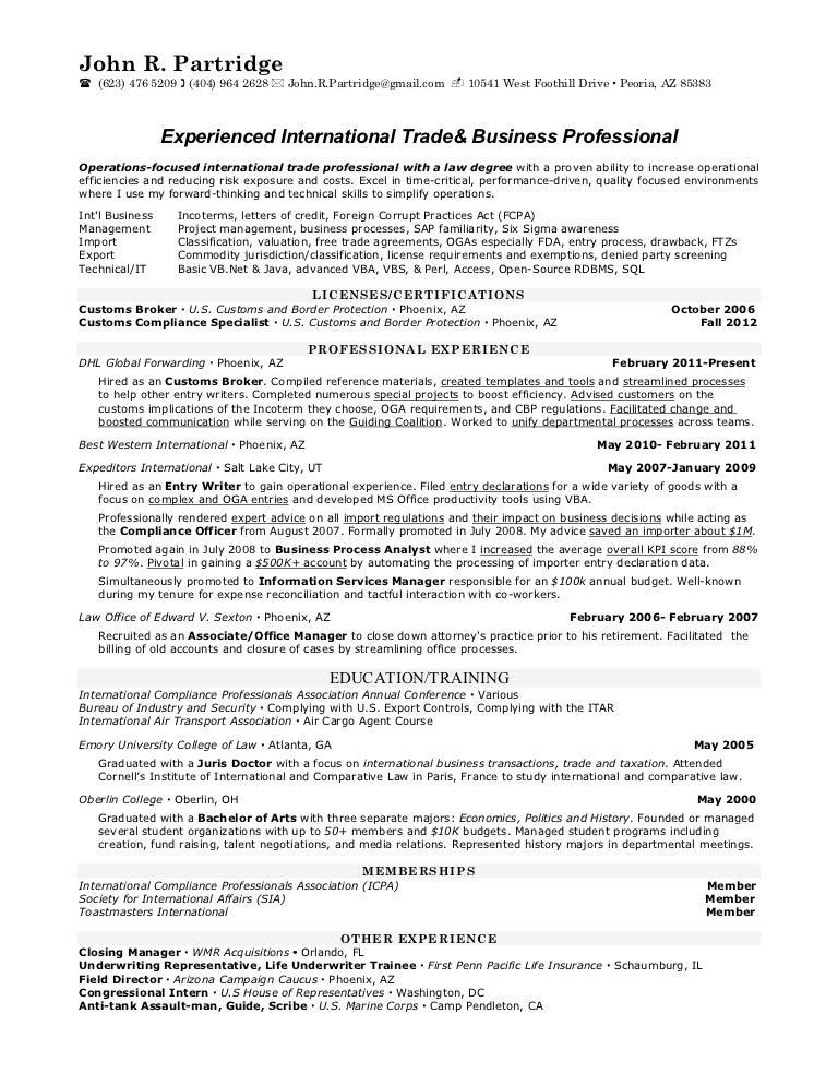 Trade analyst international