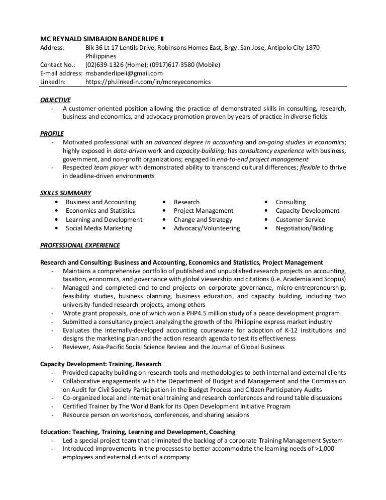 Resume - McRey Banderlipe II 03032017