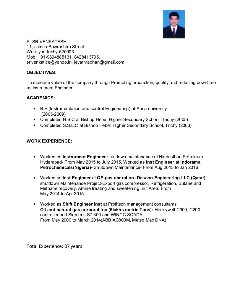 Perfect Instrumentation Technician Resume Instrument Technician Cv Instrumentation  Technician Resumehtml Instrument Commissioning Engineer Sample Curriculum  Vitae ...