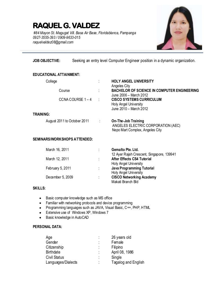 How To Write A Resume For Student Singapore