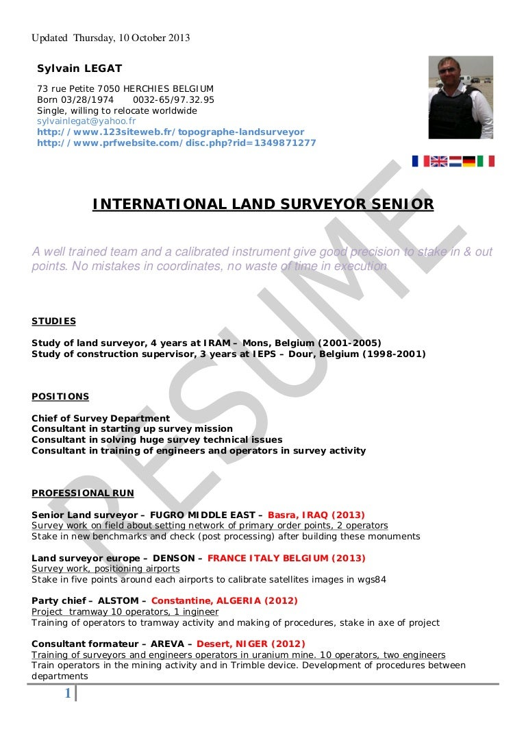 sample surveyor resumes - Romeo.landinez.co