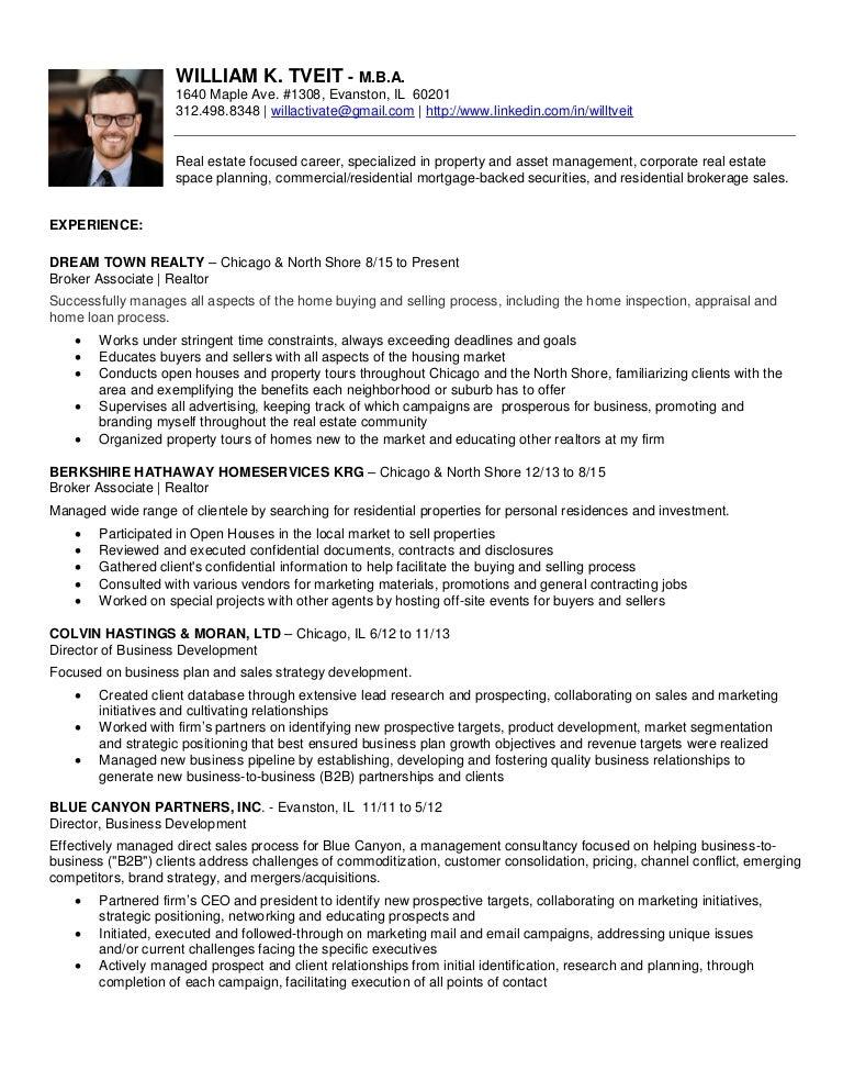 Resume 2017 | William K Tveit - MBA