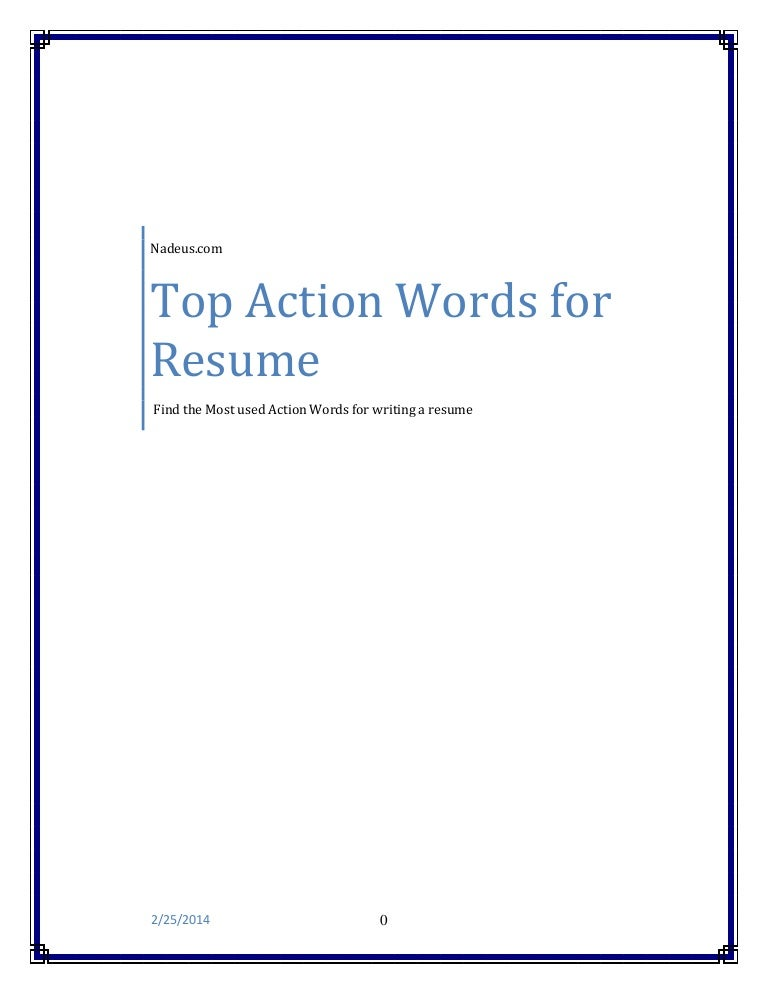 Action Words For Resume use these action words for resumes so your free resume templates Resume Action Words