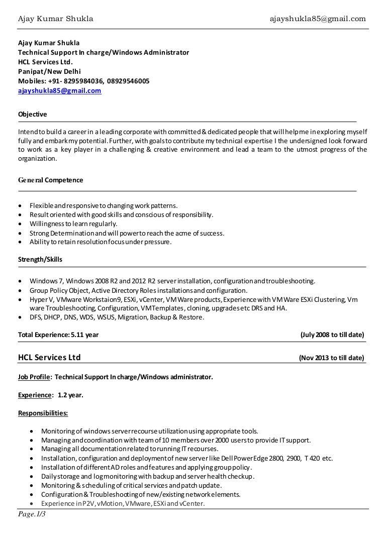 peoplesoft system administrator sample resume - System Administration Sample Resume