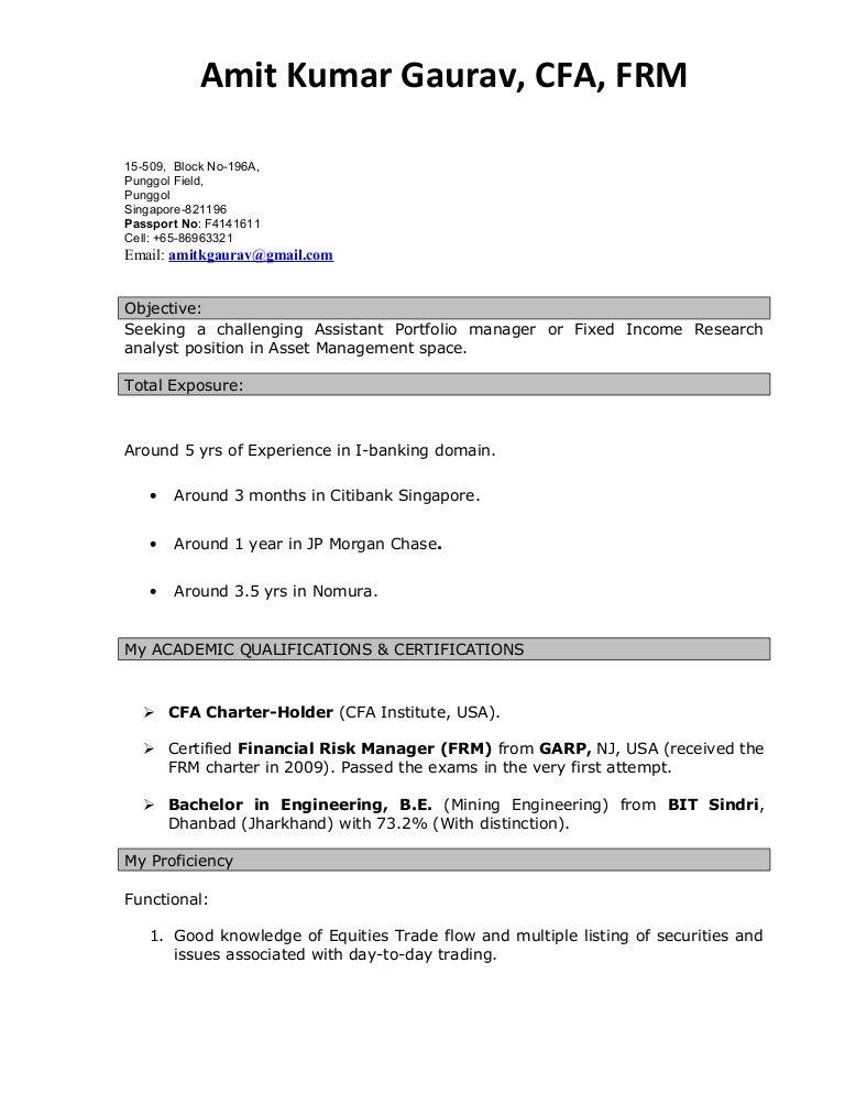 Resume Amit Gaurav