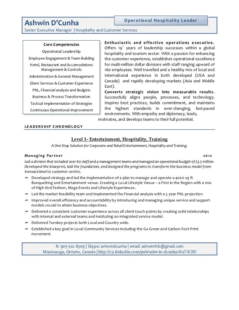 junior executive resume